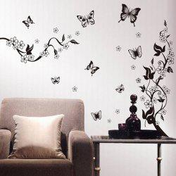 DIY New Simple Butterfly Pattern Home Decoration Decorative Wall Stickers -