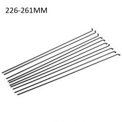 10pcs 226 - 261mm 261mm Bike Straight Spoke Stainless Steel Material with 10pcs Screw Cap
