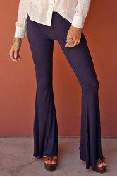 Stylish Solid Color Flare Women's Pants