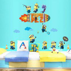 DIY Creative Cartoon Minions Pattern Home Decoration Decorative Wall Stickers
