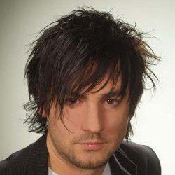 Fashion Fluffy Curly Side Bang Short Capless Heat Resistant Synthetic Natural Black Wig For Men