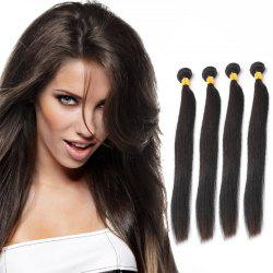 Grade 5A Straight 4 Pcs/Lot Prevailing Natural Black Indian Remy Hair Weave For Women -