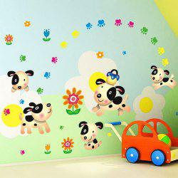 Simple Cartoon Floral Pattern Home Decoration PVC Decorative Wall Stickers -