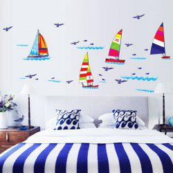 Simple Surfboard Pattern Home Decoration PVC Decorative Wall Stickers -