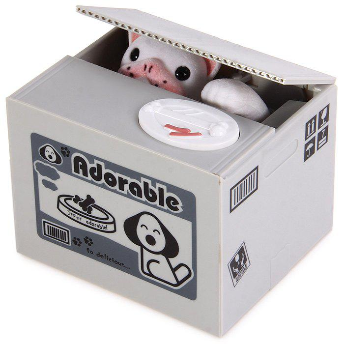 Creative Electric Steal Money Dog Coins / Piggy Bank with Sound EffectsHOME<br><br>Color: GRAY; Material: ABS; Available Color: Gray;