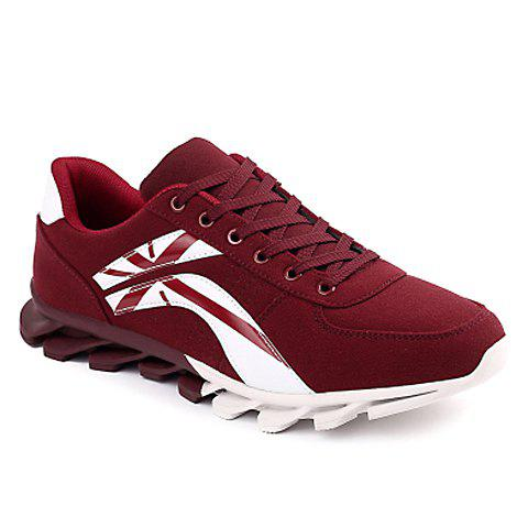 Fancy Stylish Cross and Color Block Design Men's Athletic Shoes