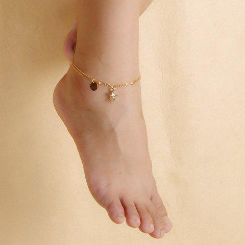Store Chic Solid Color Double-Layer Fancy Anklets