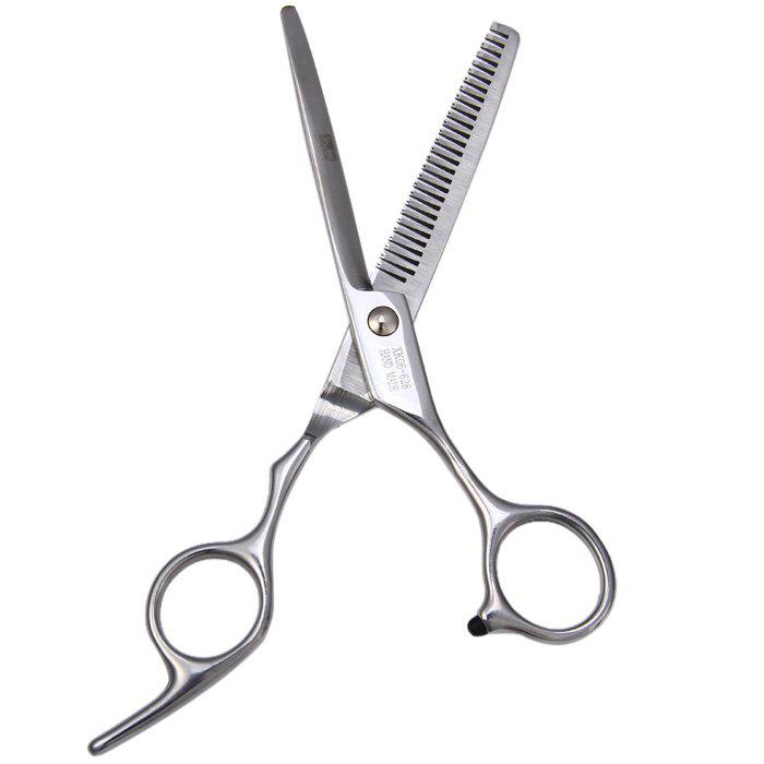 Professional Stainless Steel Grooming Hair Thinning ScissorsBEAUTY<br><br>Size: TEETH SCISSOR; Color: SILVER; Type: Scissor; Material: Stainless steel; Package weight: 0.072 kg; Package size (L x W x H): 18.30 x 6.50 x 1.20 cm / 7.20 x 2.56 x 0.47 inches; Package Contents: 1 x Scissors;
