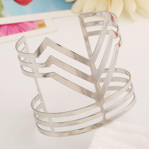 New Hollow Out Irregular Wide Cuff Bracelet