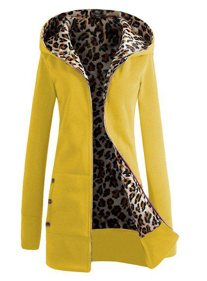 Shop Sexy Hooded Inside Leopard Printed Thick Hoodie For Women