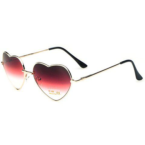 Fancy Chic Heart Shape Alloy Frame Gradient Sunglasses