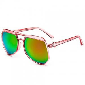 Transparent Frame Gradient Sunglasses -
