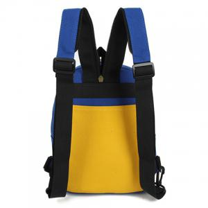 Fashionable Zipper and Colour Block Design Women's Backpack -