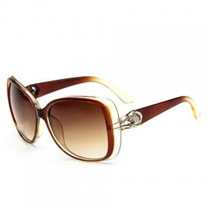 Chic Leopard Head Shape and Hollow Out Embellished Sunglasses For Women -