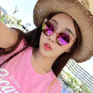 Chic Transparent Frame Candy Color Sunglasses For Women -