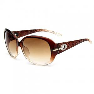 Hollow Alloy Inlay UV Protection Polarized Sunglasses -
