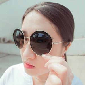 Chic Retro Big Alloy Round Frame Sunglasses For Women -