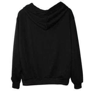 Simple Halloween Pattern Long Sleeve Hoodie For Women -