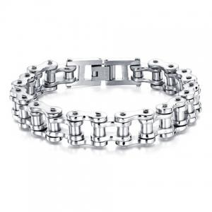 Motorcycle Chain Bracelet - WHITE ONE-SIZE