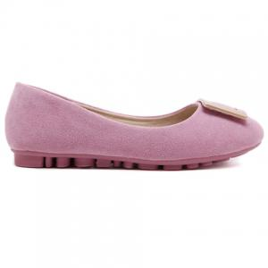 Laconic Solid Color and Round Toe Design Women's Flat Shoes - PINK 39