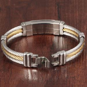 Layered Cross Cable Wire Bracelet -