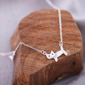 Cat Fish Pendant Necklace -