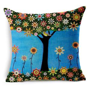 Chic Bird and Tree Pattern Pillow Case (Without Pillow Inner) -