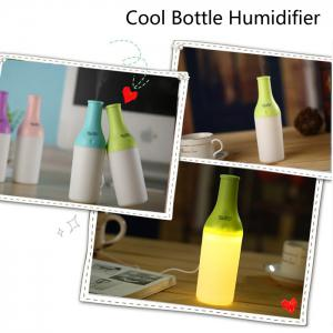 3 in 1 Practical Mini USB Cool Bottle Humidifier / Aromatherapy Machine / LED Nightlight for Car Office Home - GREEN