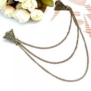 Vintage Triangle Sweater Guard Brooch -