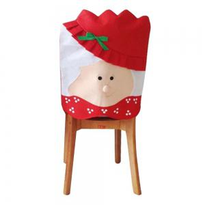 Mrs Santa Claus Christams Kitchen Chair Cover for home decoration -
