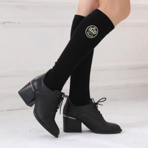 Pair of Chic Various Embroidery Foot Step Warmth Leg Warmers For Women -