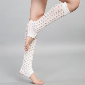 Pair of Chic Hollow Out Foot Step Knitted Leg Warmers For Women -