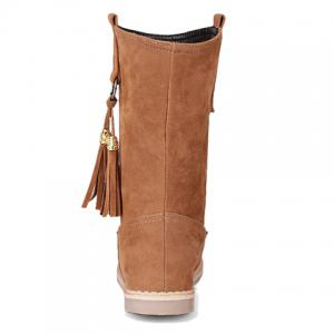 Retro Tassel and Metal Design Women's Mid-Calf Boots -