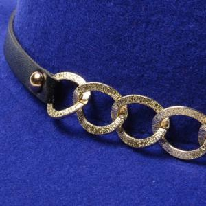 Chic Hollow Out Chain Strappy Embellished Felt Jazz Hat For Women -
