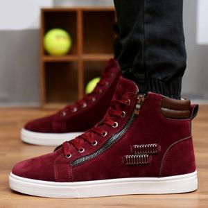 Fashionable Lace Up and Metal Design Men's Casual Shoes -