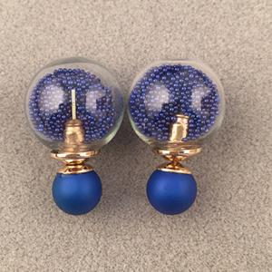 Pair of Sweet Faux Pearl Round Bottle Earrings For Women -