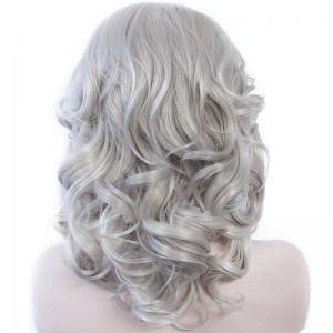 Attractive Long Heat Resistant Synthetic Stylish Fluffy Wavy Lace Front Wig For Women -