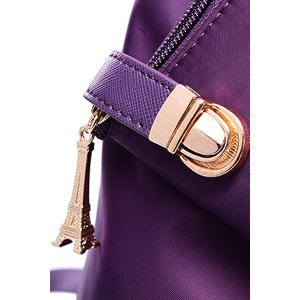 Trendy Button and Solid Color Design Women's Satchel -