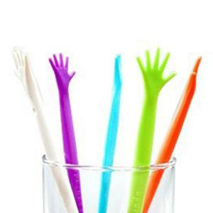 5PCS Creative Long Handle Plastic Coffee Milky Tea Juice Stirrer -