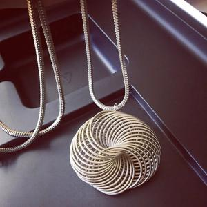 Characteristic Solid Color Pendant Sweater Chain For Women -