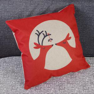 Modern Christmas Deer Pattern Square Decorative Pillowcase(Without Pillow Inner) -
