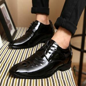 Fashion Black and Lace-Up Design Men's Formal Shoes -
