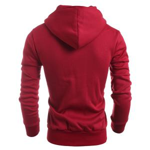 Turn-Down Collar Double-Breasted Long Sleeve Thicken Men's Jacket - RED L