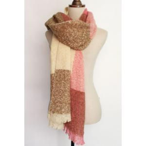 Chic Stripe Pattern Fringed Edge Multifunctional Loop Yarn Scarf For Women -