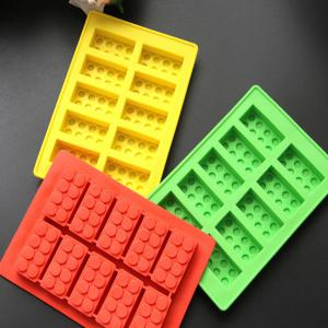 Cute Building Block Shape Mold Silicon Ice Cube Tray -