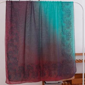 Fashionable Ombre Flowers Pattern Scarf For Women -