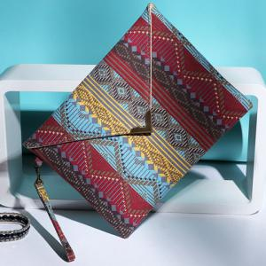 National Style Metal and Color Matching Design Women's Clutch Bag -