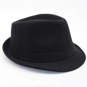 Stylish Simple Solid Color Felt Fedora For Men -
