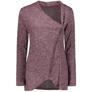 Asymmetrical Zippered Women's Sweatshirt