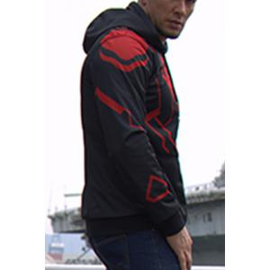 Slimming Hooded Superman Costume Print Long Sleeve Men's Jacket -